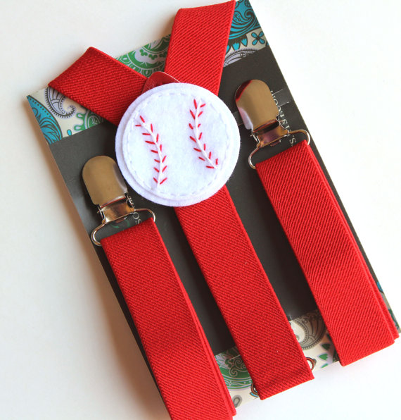 Hochzeit - Kids Red Suspenders, Baseball Suspenders, Boys Suspenders, Baby, Toddler Suspenders, Photo Prop, Wedding, Ring Bearer, Birthday Outfit