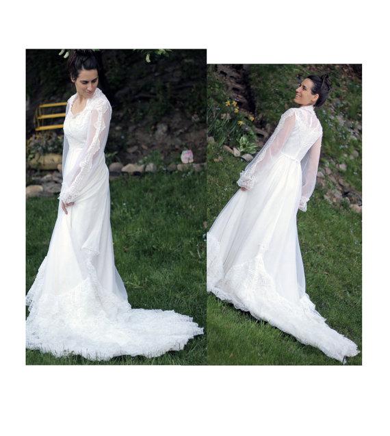 زفاف - Dream Vintage Lace Wedding Dress - Size 4/6