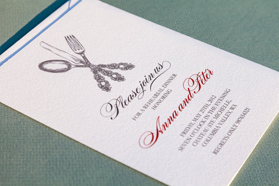 Wedding - Printable rehearsal dinner invitation