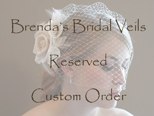 Mariage - Requested Custom Order Reserved for Lauren