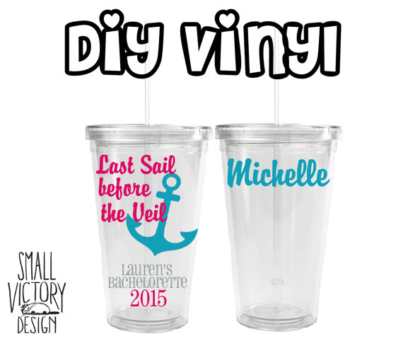 Last sail before the veil anchor vinyl decal diy vinyl stickers mason jar stickers ocean beach destination wedding diy vinnyl
