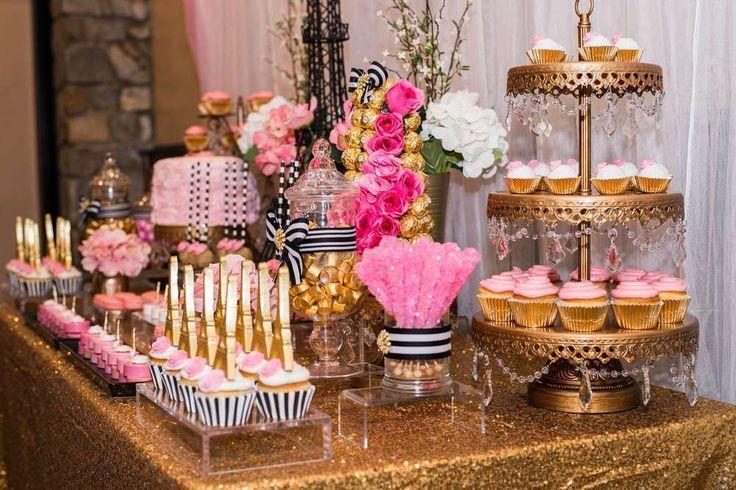 French parisian bridal wedding shower party ideas 2331049 weddbook - French themed table decorations ...