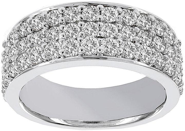 Modern Bride Lumastar 1 Ct T W Diamond 14k White Gold