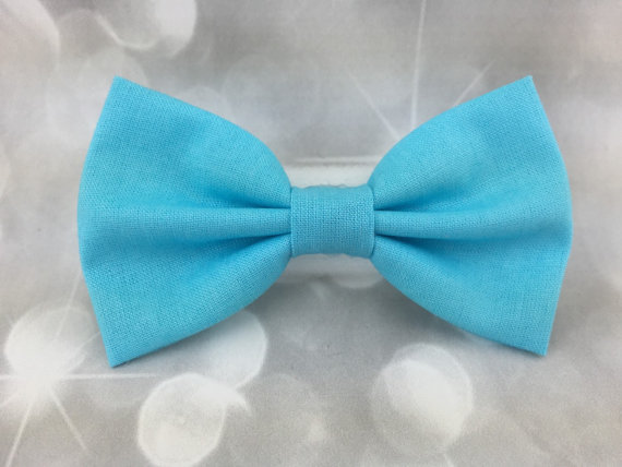 Свадьба - Sky Blue Small Pet Dog Cat Bow / Bow Tie
