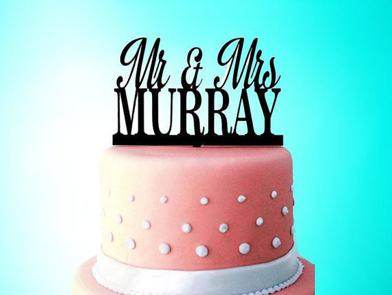 Today 1 2 Off Personalized Custom Mr Mrs Wedding Cake Topper With YOUR Last Name Surname Perfect Shower Gift Bridal