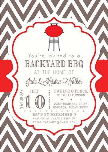 زفاف - BBQ Barbecue Backyard Party Celebration Couples Shower Invitation - colors and wording can be changed