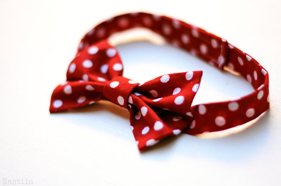 Wedding - White and red polka dot bow tie Infant bow tie for toddler Mens red bowtie Ring bearer bow tie Blue wedding accessories Groomsmens bow tie