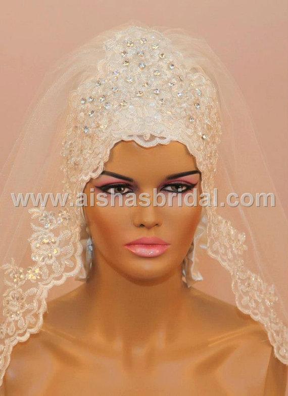 how to wear bridal hijab