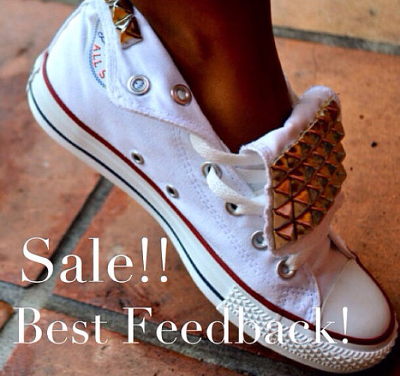 Studded Converse Chuck Taylor All Star Shoes Trainers #2331260 ...