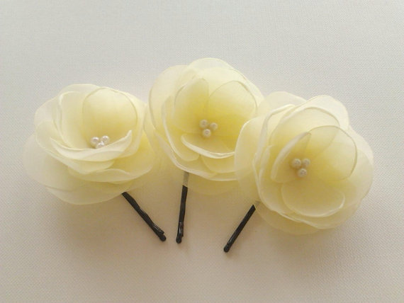 Pale yellow hair flowers pale yellow boutonnieres pale yellow bridal pale yellow hair flowers pale yellow boutonnieres pale yellow bridal hair clips light yellow hair clips pale yellow bridesmaids flower girl mightylinksfo Choice Image