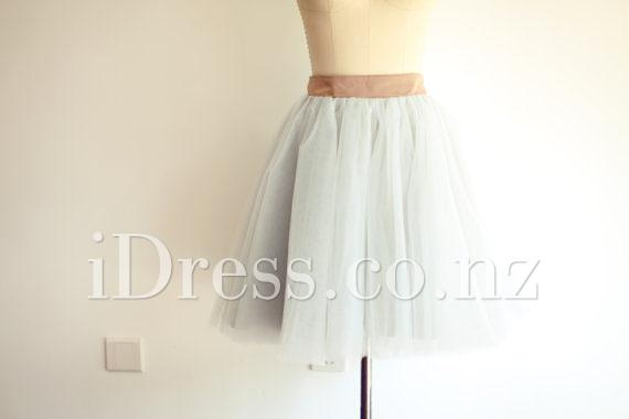 Mariage - Pretty Petticoat Short Tulle Prom Skirt