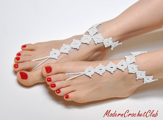 ce845e0874b4 Barefoot Sandals WHITE DIAMOND