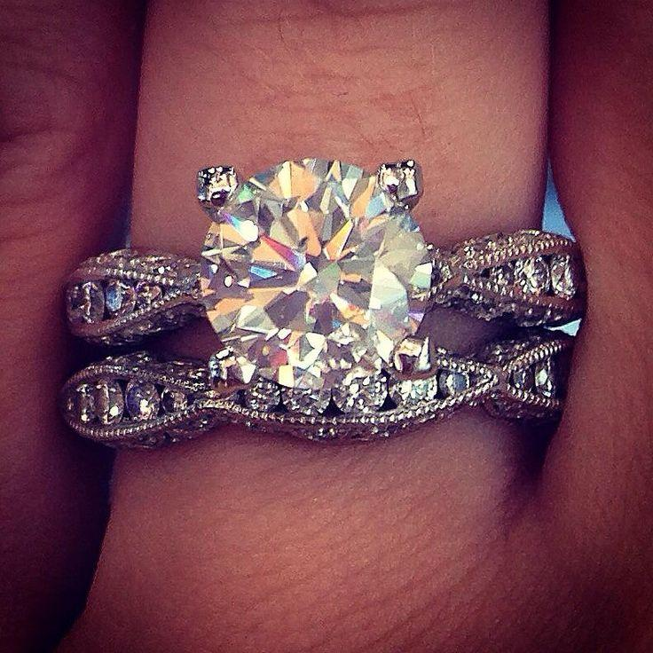Wedding - Tacori 18k White Gold EGL 1.95ct Round Brilliant Engagement Ring