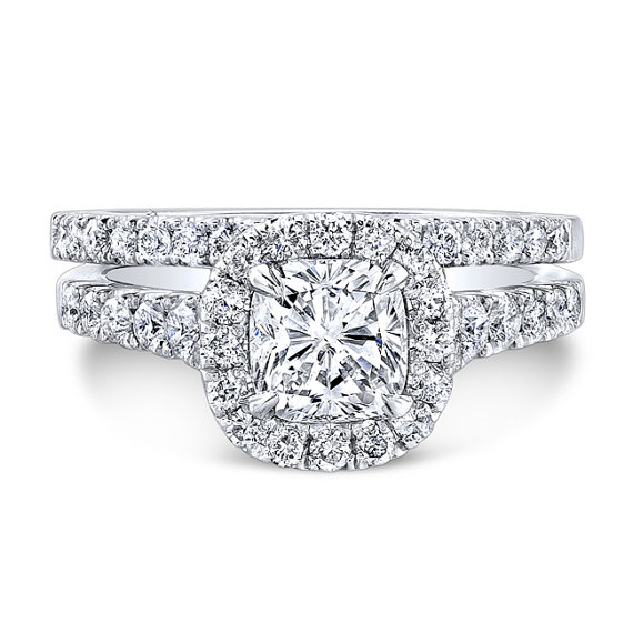 Mariage - Cushion Diamond Halo Engagement Ring