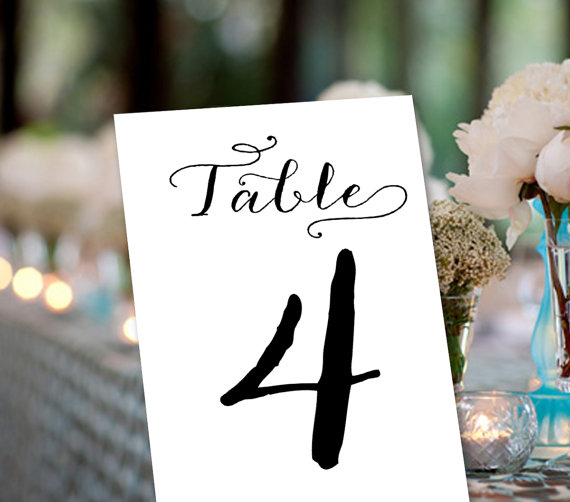 Mariage - Wedding Table Number, Set of 25, Wedding, Events, Anniversary, Calligraphy - Mr + Mrs Stationery, Anna Instant download