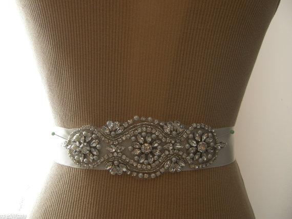 Wedding - SALE / Wedding Belt, Bridal Belt, Bridesmaid Belt, Sash Belt, Wedding Sash, Bridal Sash, Belt, Crystal Rhinestone & Pearl