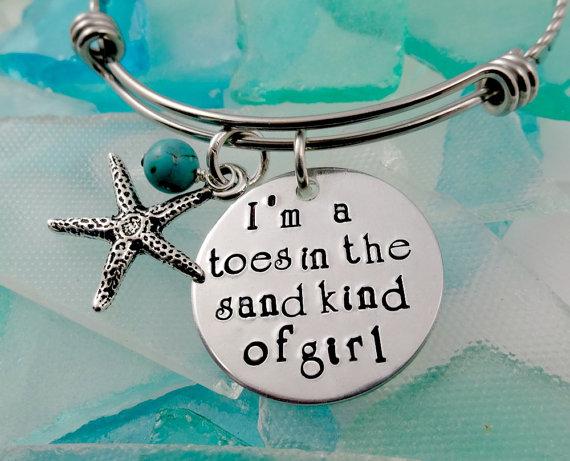 زفاف - I'm A Toes In the Sand Bangle Bracelet