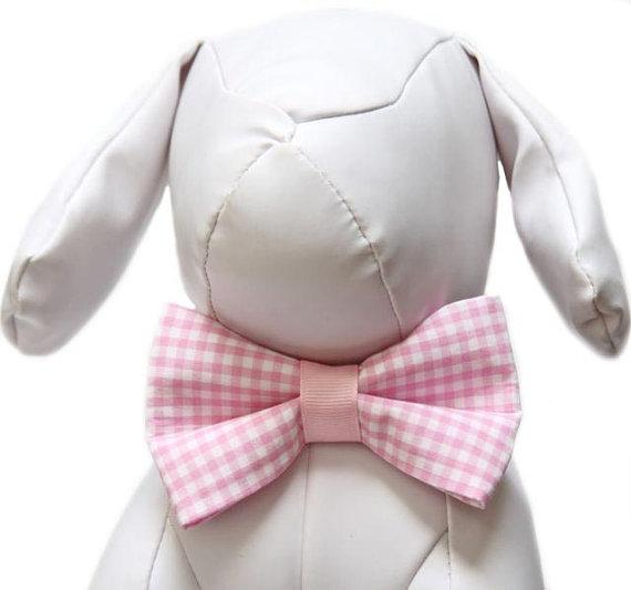 Свадьба - Gingham Bow Tie for Dog Collar