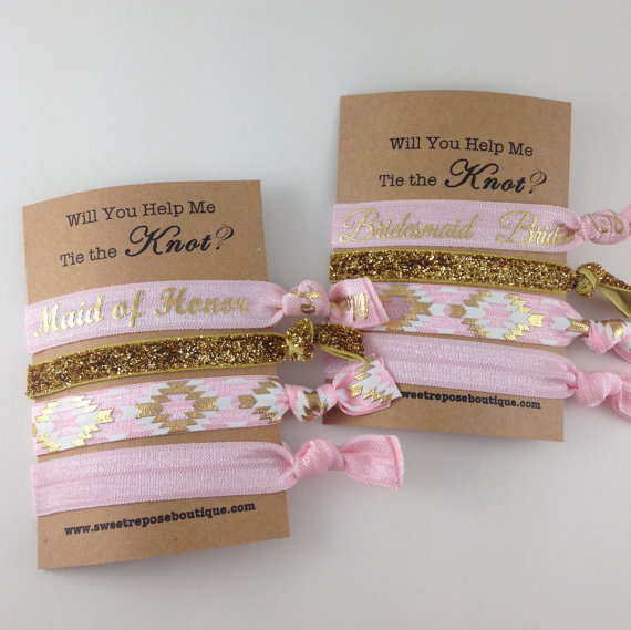 Will You Help Me Tie The Knot, Bridesmaids Gifts, Will You Be My Bridesmaid, Bachelorette Party ...