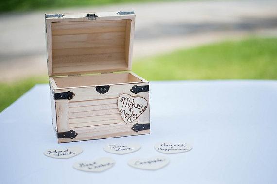 Mariage - Bride & Groom Advice Box - Wishes Box - Rustic Box - Cottage Chic - Country Style Wedding - Wedding Decor