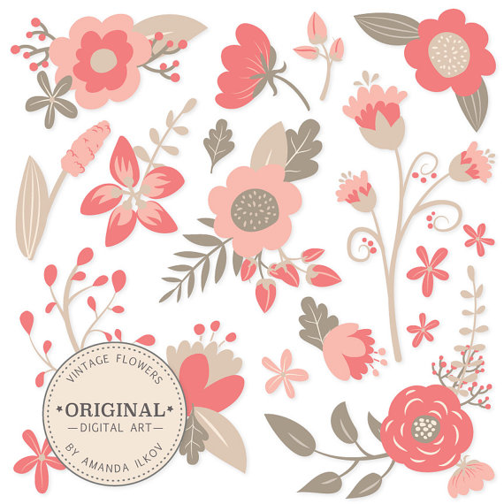 Vintage Floral Clip Art 77