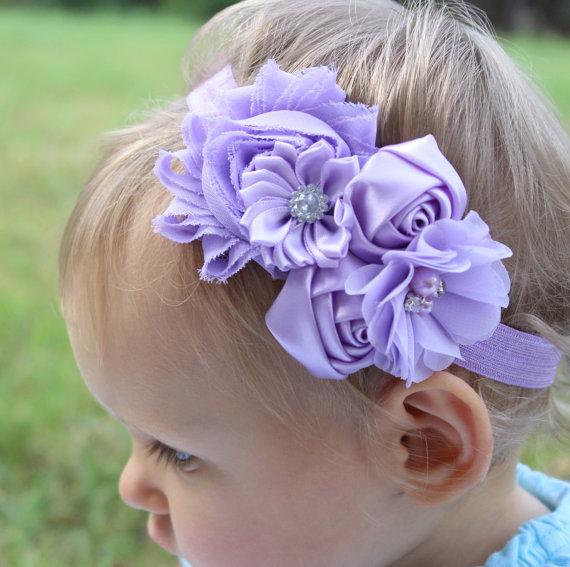 Lavender headband baby girls headband purple toddler headband girls purple  headband purple flower girl headband lavender wedding headband e9bdce9244a