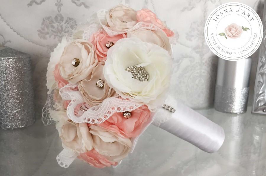 Wedding - Ramo flores de tela