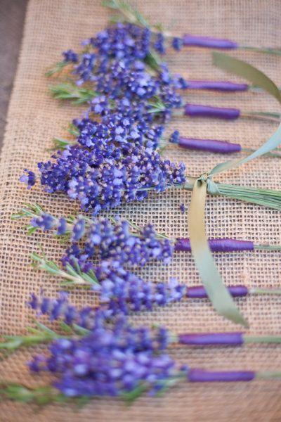 Wedding - Lavender Boutonniere.