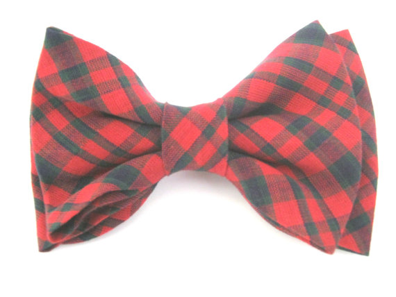 Свадьба - Dog Bow Tie  Plaid Red Dog Bowtie  Removable with Velcro Pet Bow Tie Collar Bow Tie Large Dog Bow Tie Bow Tie For Dog