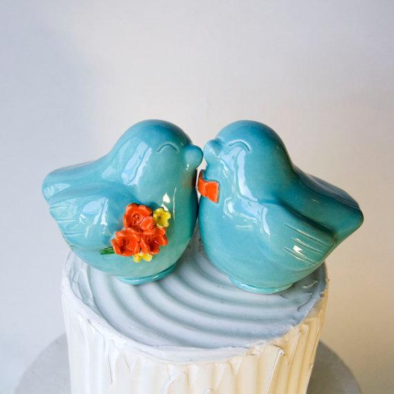 Свадьба - Robin Egg Blue Wedding Cake Topper