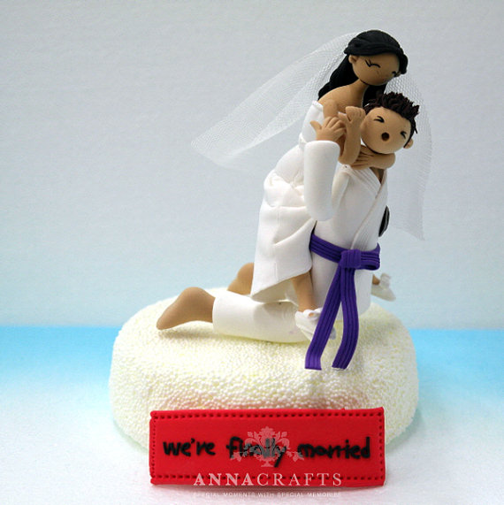 Karate Wedding Cake Topper
