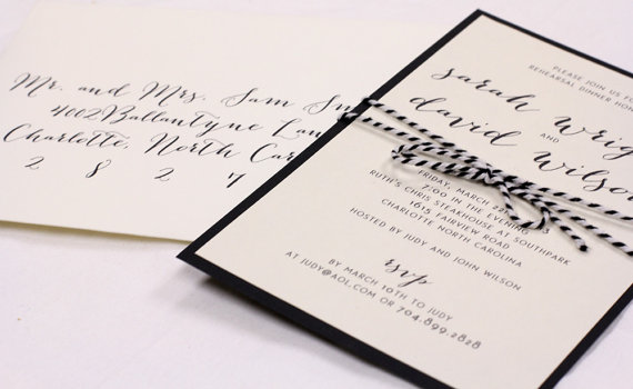 Mariage - Rehearsal Dinner Invitation // Simple and Elegant Invite // Purchase this Deposit to Get Started