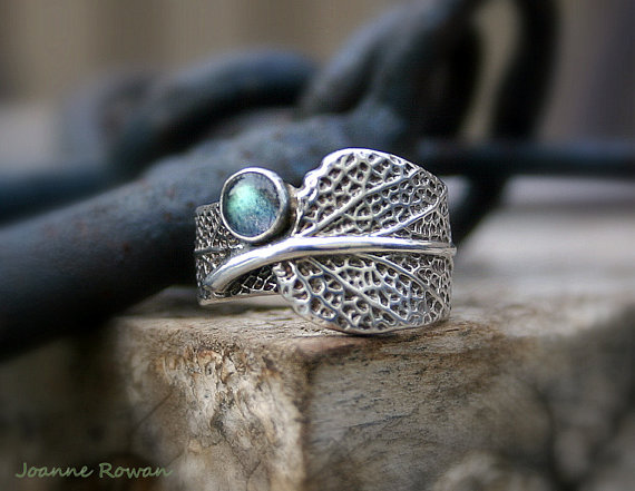 Mariage - Sage and Labradorite...Engagement Ring, Wedding Band, Promise Ring