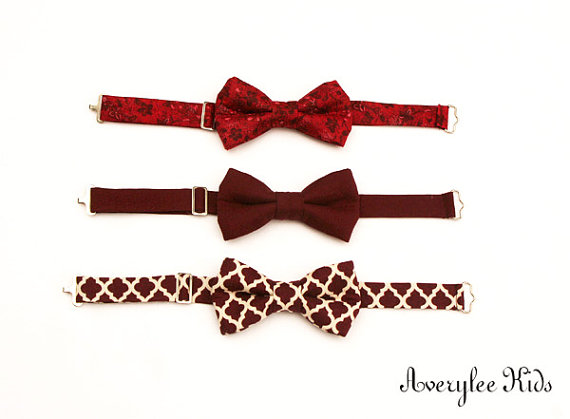 Mariage - Boys Bow tie, Toddler Bow Tie, Marsal, Burgundy, Plum, Wine Bowtie, Wedding Ring Bearer, Infant Bow Tie, Bowties, Suit and Tie