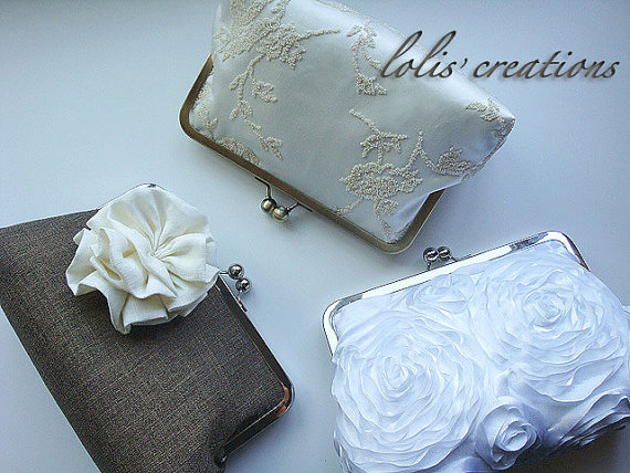 Свадьба - Bridal and Bridesmaids Clutches Bridesmaids Custom Purses Bags Party Bridesmaid - Bridesmaid Purse - Bridesmaid Gifts - Wedding Purse