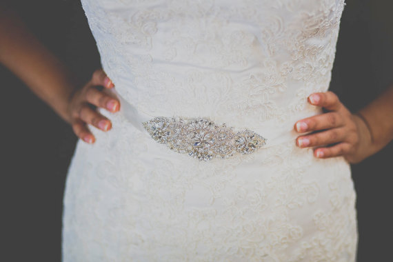 Mariage - bridal sash, wedding dress sash, bridal belt