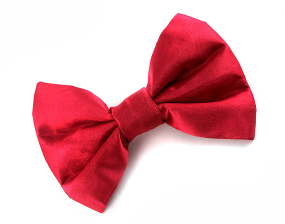 زفاف - Red Dog Bow Tie - Formal Bow Ties for Weddings and Special Occasions