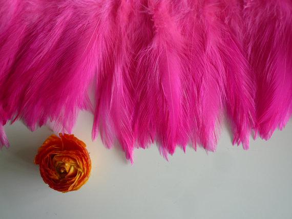 Mariage - VOGUE COQUE HACKLE  , Shocking Fluorescent Hot Pink w darker tips / 645
