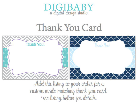 Mariage - ADD-ON Thank You Card to match any of my Invitations, see listing for more pics