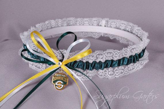 Свадьба - Seattle SuperSonics Lace Wedding Garter