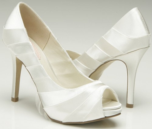 Weddings Wedding Shoes 3 75 High Heel Peep Toe Shoes Womens