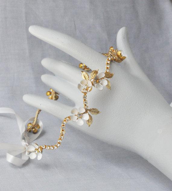 Свадьба - Wedding Headband, Floral Leaf Crown Bridal Headband, Wedding Headband with Enamel Flowers, Gold wedding Headpiece, Silver
