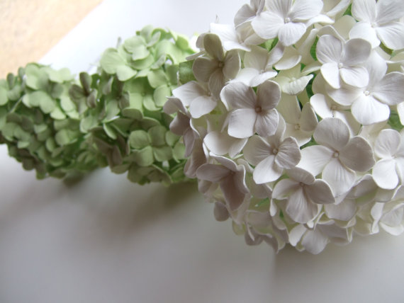 Свадьба - Hydrangea Bridal Bouquet, Made To Order, Down Payment ONLY