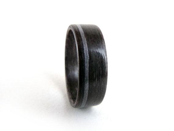 gray wood ring aluminum wood ring mens wedding band womens wedding band wood wedding band wood engagement ring ring for men - Wood Wedding Rings For Men