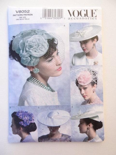 Mariage - 50% Off! Uncut Vintage Vogue Hat Pattern. Fascinator. Birdcage. Wide Brimmed. Netting. Wedding Veil. V8052