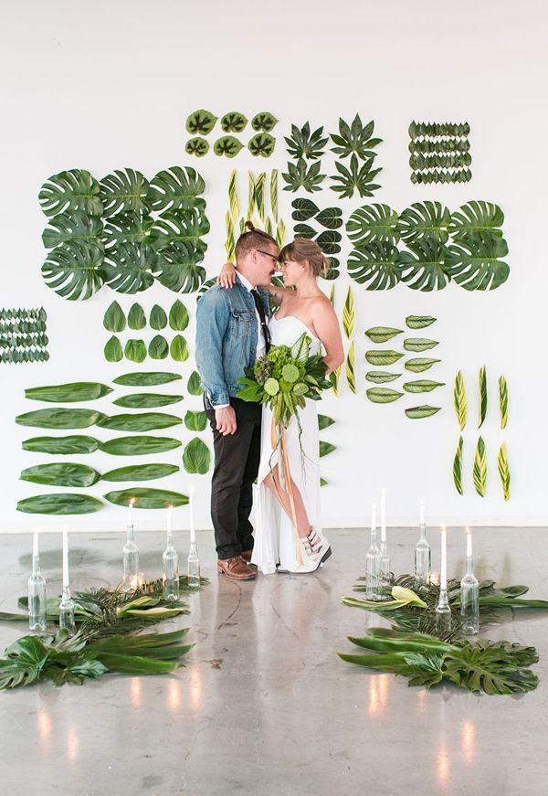 Hochzeit - Creative Nashville Wedding With Art Installations