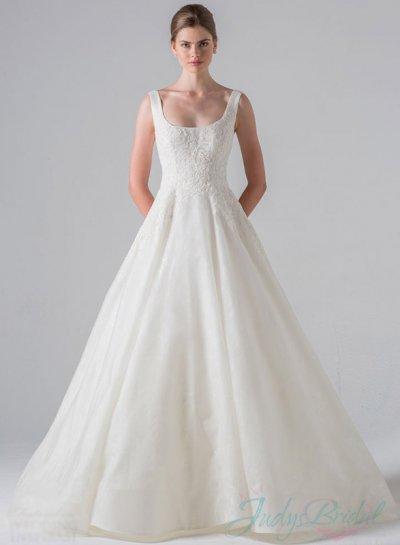 Strappy Scoop Neck Princess Ball Gown Wedding Dress #2333312 - Weddbook