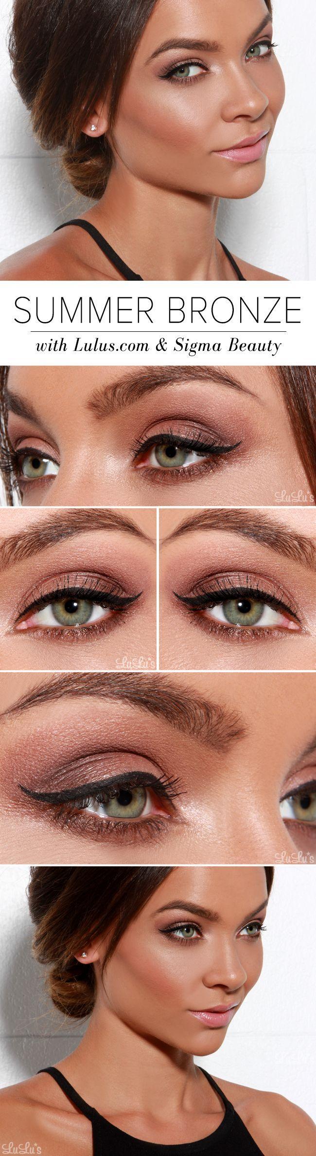 Свадьба - Get The Look: Summer Bronze Makeup With Sigma Beauty!