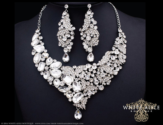 Bridal Jewelry Set Bridal Necklace Butterfly Bridal Statement
