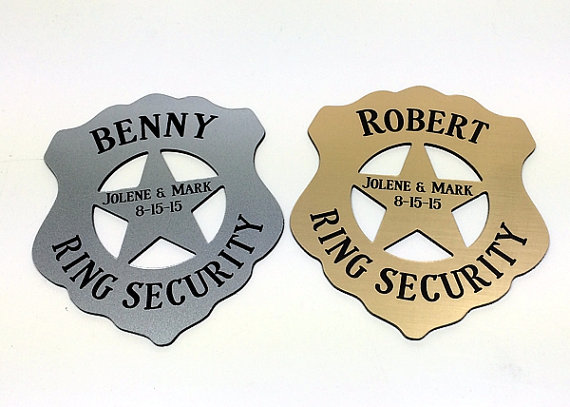 Ring Security Bearer Badge Bear Gift Personalized With Box
